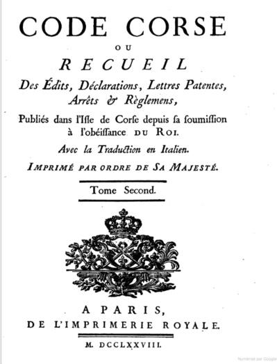 La Corse et l'Ancien Régime : entre tatonnement et permanence
