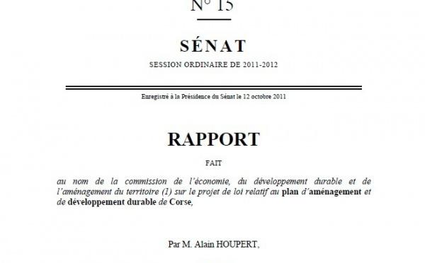 Rapport du Sénat sur le PADDUC